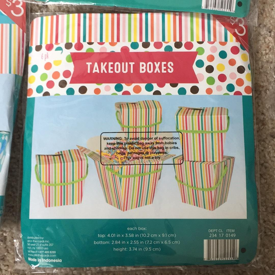 Takeout boxes - 6/package (6)