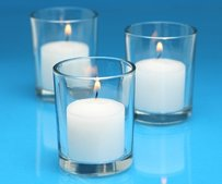 72 Glass Candle Votive Holders And 72 Votive Candles- Brand New