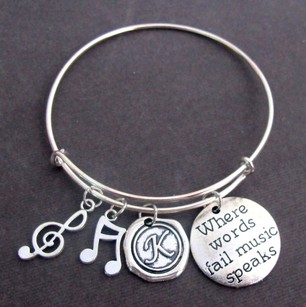 Where Words Fail Music Speaks Music Bracelet Music Gift Music Lovers
