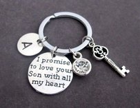 I Promise To Love Your Son With All My Heart Key Chain Mother Of Groom