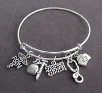 Nurses Call The Shots Bangle Bracelet Nurse Graduation Gift Registere