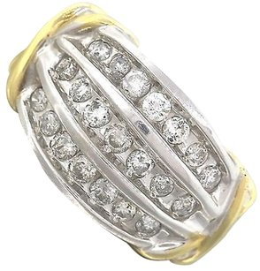 Bold,Ladies,Estate,14k,Yellow,White,Gold,0.75ctw,Diamond,Ring