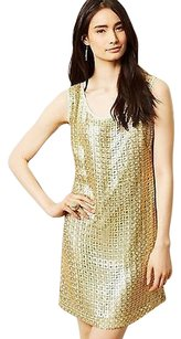 Anthropologie short dress Golden Panes Shift By on Tradesy
