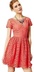 Nicole Miller Stitched Blossom Dress