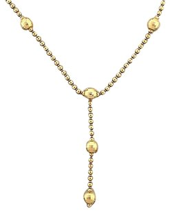 Other Unique,14k,Yellow,Gold,Fancy,Diamond,Cut,Disco,Ball,Bead,Tassel,Chain,Necklace