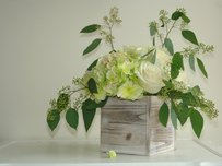 10 Rustic White Distressed Woodland Planter Boxes Planters Centerpieces Shabby Chic 5x5x5