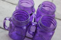 12 Purple Mason Jar Mugs Tumblers Mug Glasses