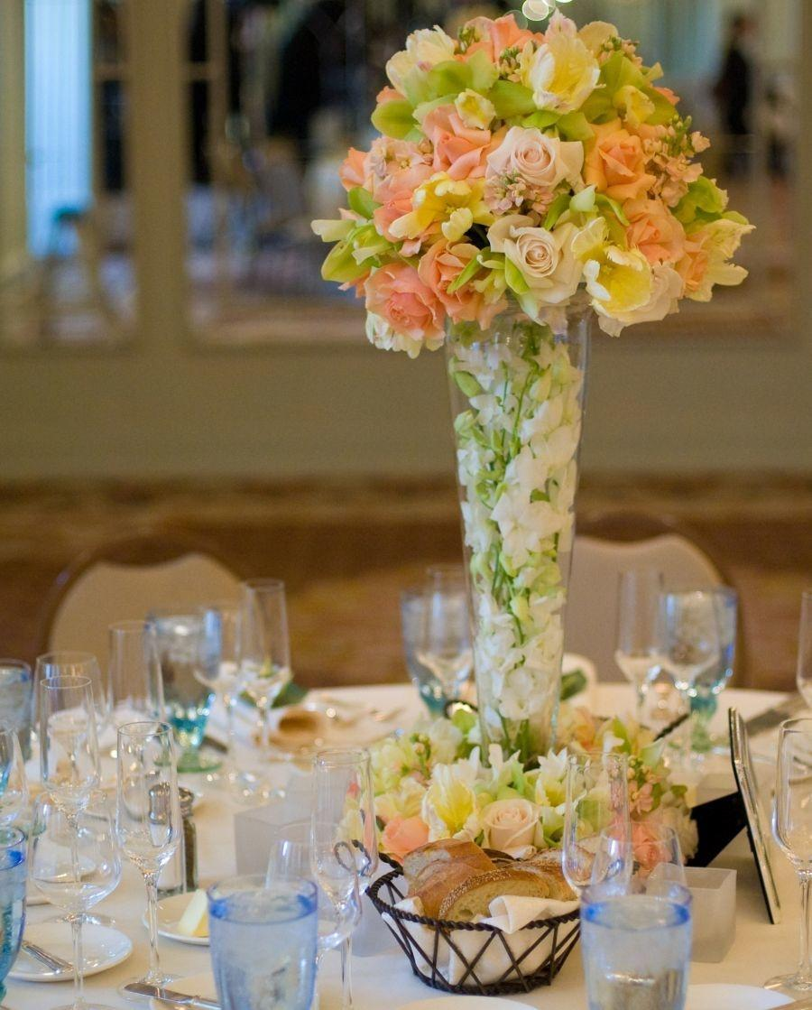 14 very large glass vase centerpieces tradesy Lily Flower Centerpieces Fresh Flower Table Centerpiece