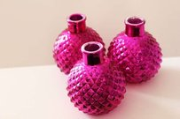 15 Hot Pink Mercury Glass Bud Vases Vase