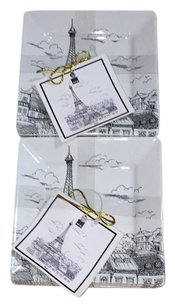 2222 8 222 Fifth City Scenes Paris pattern small plate.