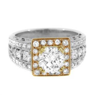 18k Two Tone Gold 2.60ct Diamond Engagement Ring