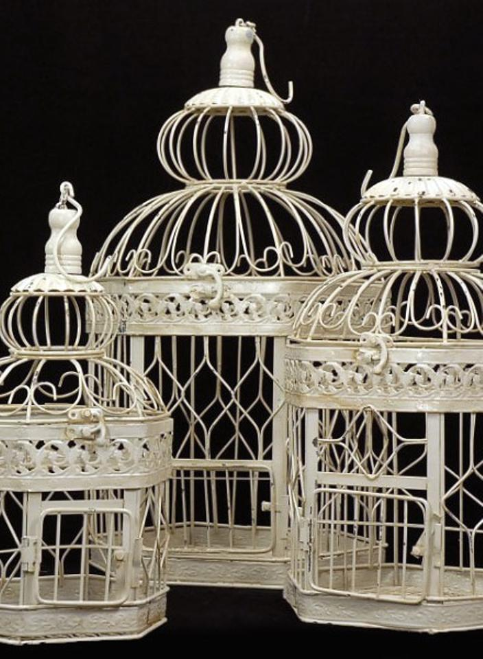 3 Large Victorian Style Bird Cages