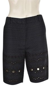 3.1 Phillip Lim Womens Bermuda Printed Cropped Pants Shorts Blue