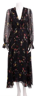 Black Maxi Dress by 3.1 Phillip Lim Multicolored Floral Print Raw Edge Maxi Silk Gown