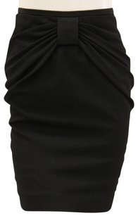 3.1 Phillip Lim Pencil Bow Ruched Fitted Mini Skirt Black