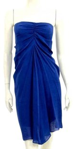 3.1 Phillip Lim Shift Silk Linen Royal Blue Party Dress