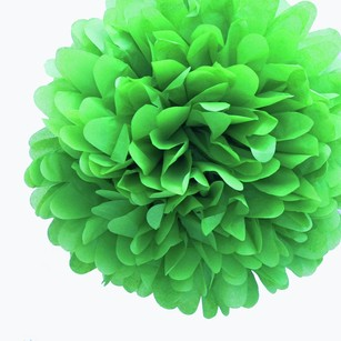 36 Kelly Green Tissue Pom Poms Flower Kissing Balls Pomanders 14