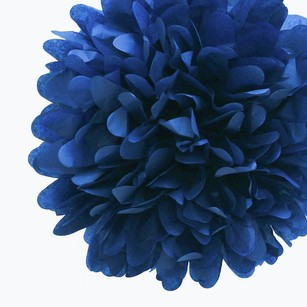 36 Navy Blue Tissue Pom Pom Flower Balls Kissing Balls Pomanders 14