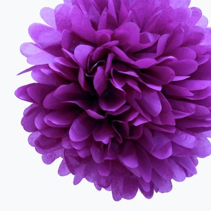 36 Plum Purple Tissue Pom Poms Flower Kissing Balls Pomanders 14