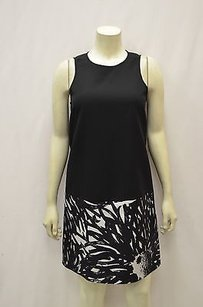 4.collective short dress black/white Collective Black Silk Painted on Tradesy