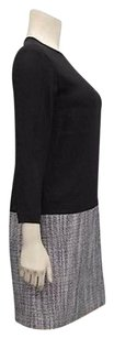 4.collective short dress Black/White Black Crepe Tweed Woven Combo Shift 210257st on Tradesy