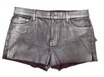 7 For All Mankind Cut Off Shorts Purple ,silver wax