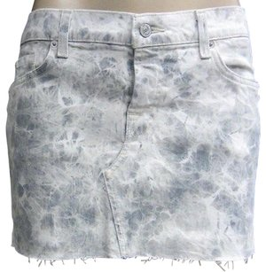 7 For All Mankind Grey Stretch Mini Skirt Grays