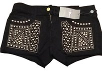 7 For All Mankind Shorts Black
