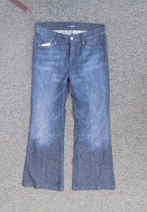 7 For All Mankind Blue Flat Trouser/Wide Leg Jeans