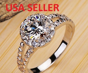 9.2.5 SIZE 4,5,6,7,8 2ct diamond ring certified nscd halo round vvs1 pt950