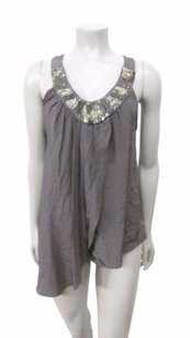 Aaron Ashe Royal Park Beaded Neck Top Slate