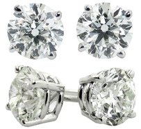 ABC Jewelry 4.05 ct Brilliant cut diamond earrings. All 14kt white gold earrings