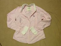 Abercrombie & Fitch Striped Preppy Classic Button Down Shirt PINK WHITE OXFORD