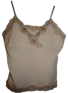 Abercrombie & Fitch Beaded Top Cream