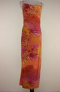 Multi-Color Maxi Dress by A.B.S. by Allen Schwartz Abs Orange