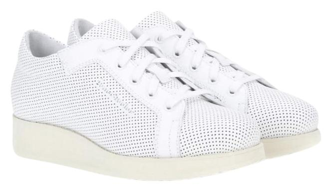 Acne Studios White Kobe Perforated Leather Sneakers Sneakers Size US 8 Regular (M, B)