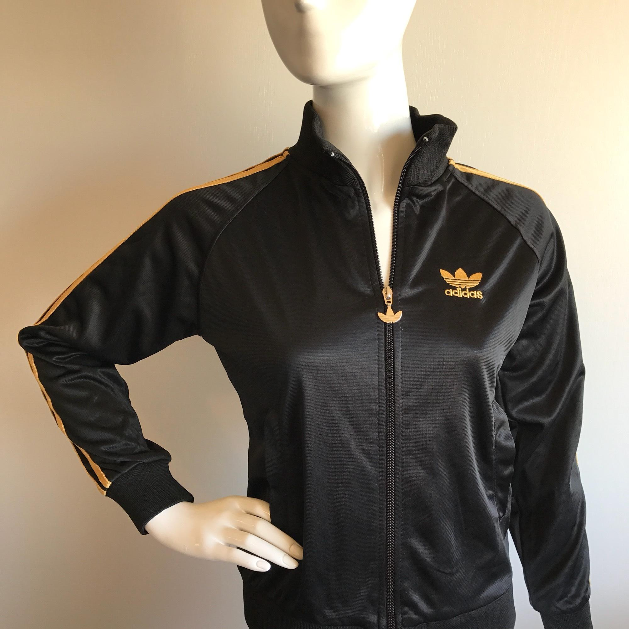 adidas black and gold jacket