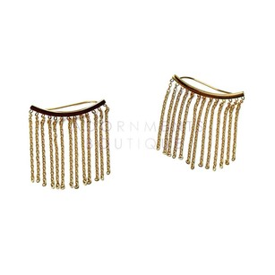 Adornments Gold Fringe Ear Climbers