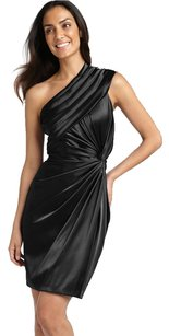Adrianna Papell One Shoulder Party Satin Classic Dress