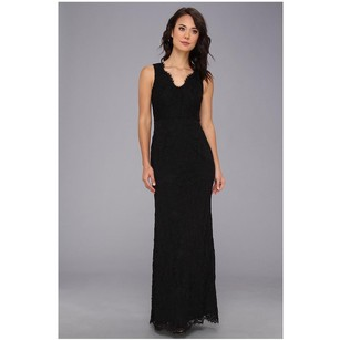 Adrianna Papell Black Adrianna Papell: Sleeveless V-neck Lace Gown Dress
