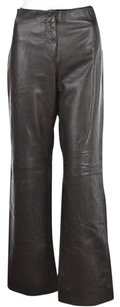 Adrienne Vittadini Womens Leather Casual Flare Trousers Pants