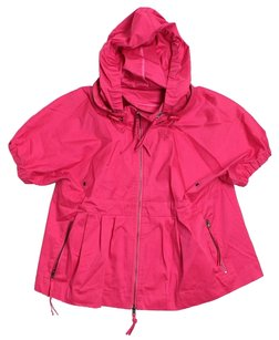 Adrienne Vittadini Windbreaker Raspberry Jacket