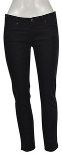 AG Adriano Goldschmied Womens Black Cropped 27 Cotton Capri Pants Capri/Cropped Denim