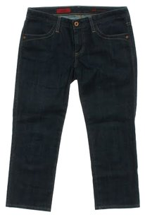 AG Adriano Goldschmied Capri/Cropped Denim-Dark Rinse