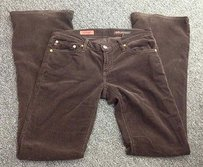 AG Adriano Goldschmied The Angel Flat Front Pocket Bootcut Corduroys 28r Sm1266 Pants