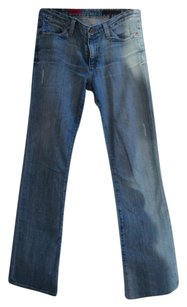 AG Adriano Goldschmied Distressed Slim Straight Leg Jeans-Distressed