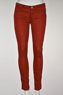 AG Adriano Goldschmied Womens Burnt Orange 24r Colored Skinny Trousers Skinny Jeans