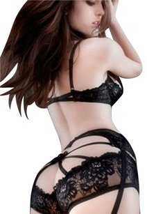 Agent Provocateur Bra Brief Panty Top Black, Floral
