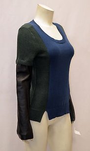 AIKO Greenblue Color Block Sweater