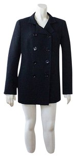 Akris Akris Black Wool Blend Double Breasted Blazer Jacket Coat Wtw Hsh815
